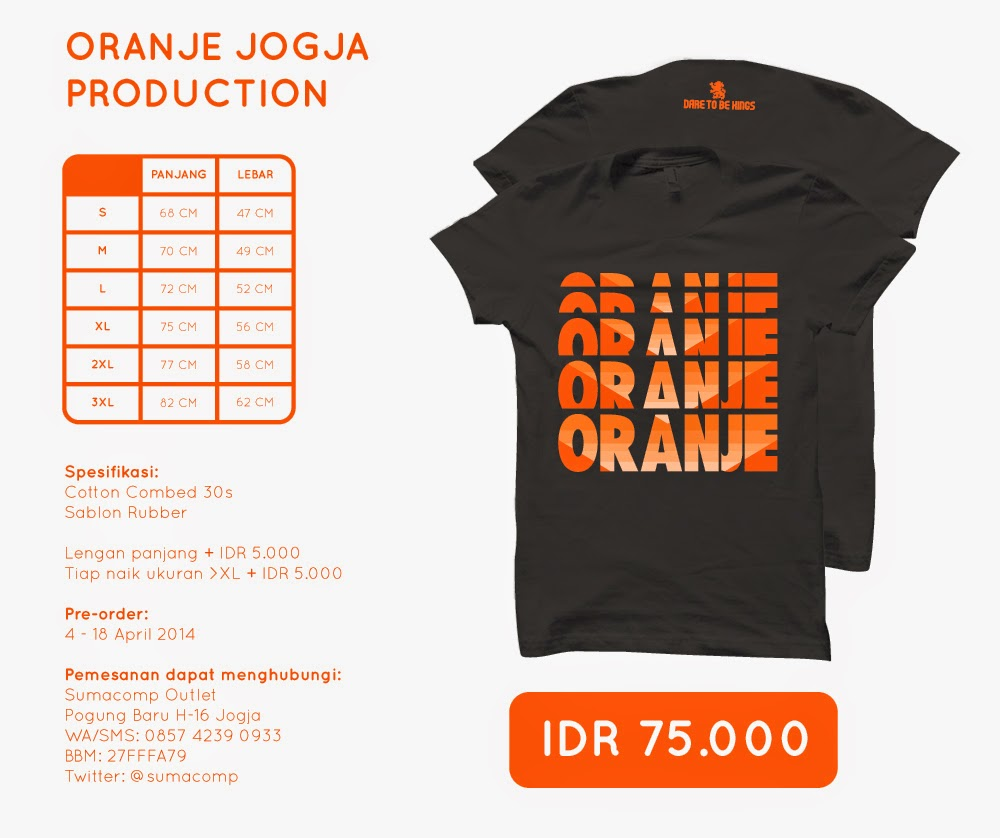 Oranje Dare to Be  >> Black
