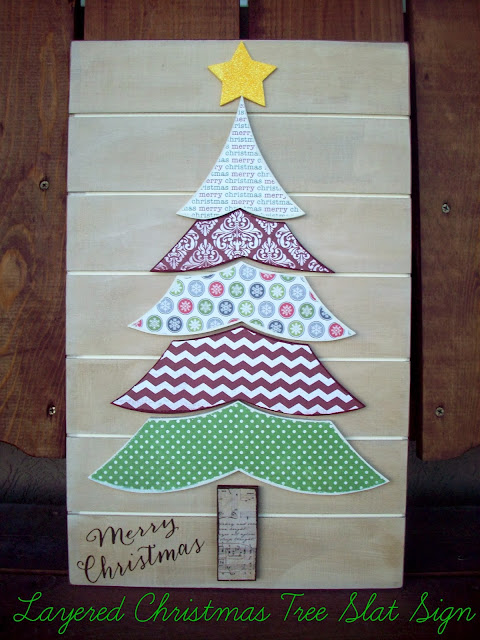 Christmas Tree Slat Sign from www.summerscraps.com