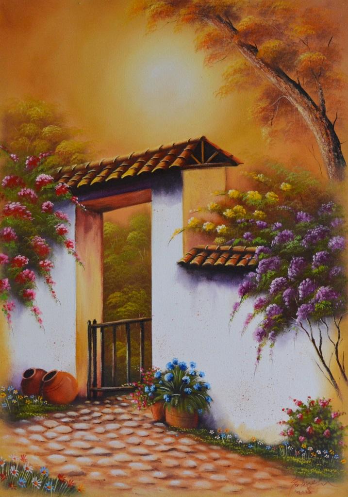 Cuadros modernos pinturas y dibujos paisajes f ciles de - Vidrieras modernas ...