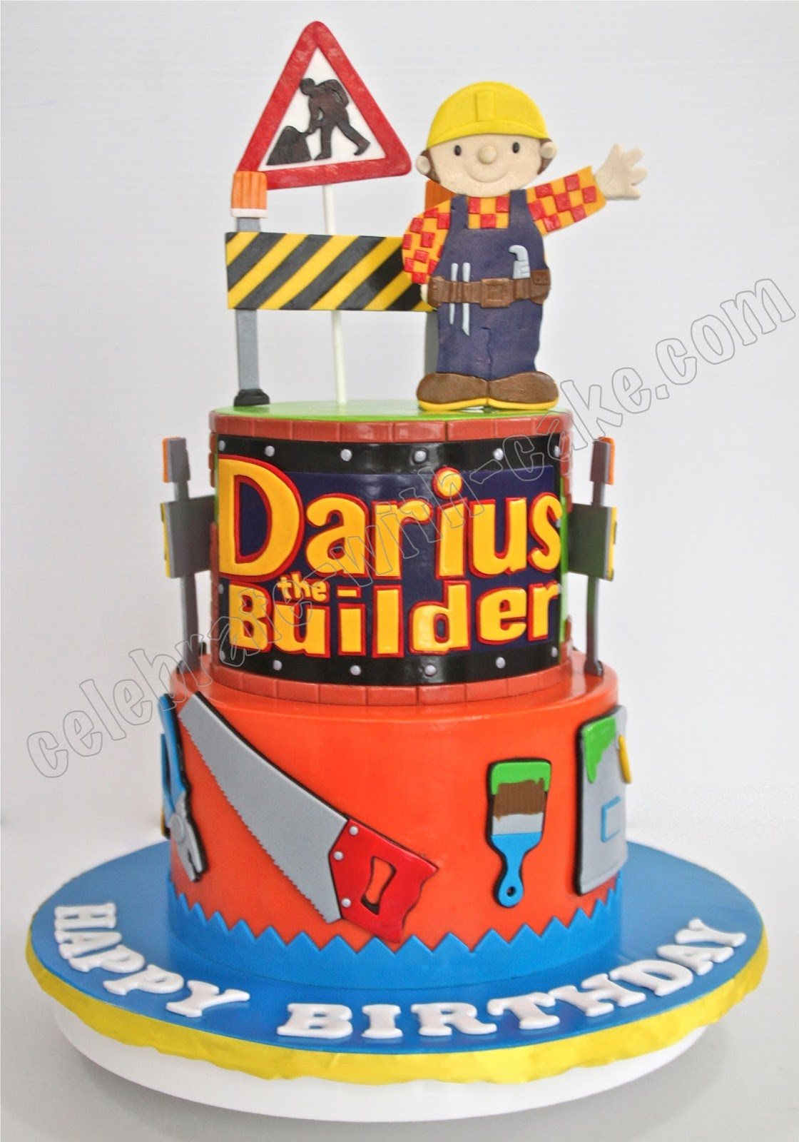 Celebrate with Cake Bob The Builder Tier Cake