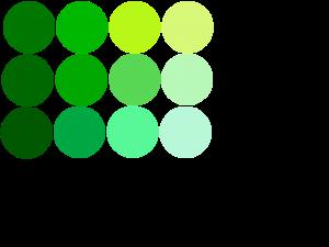 image gallery warna hijau