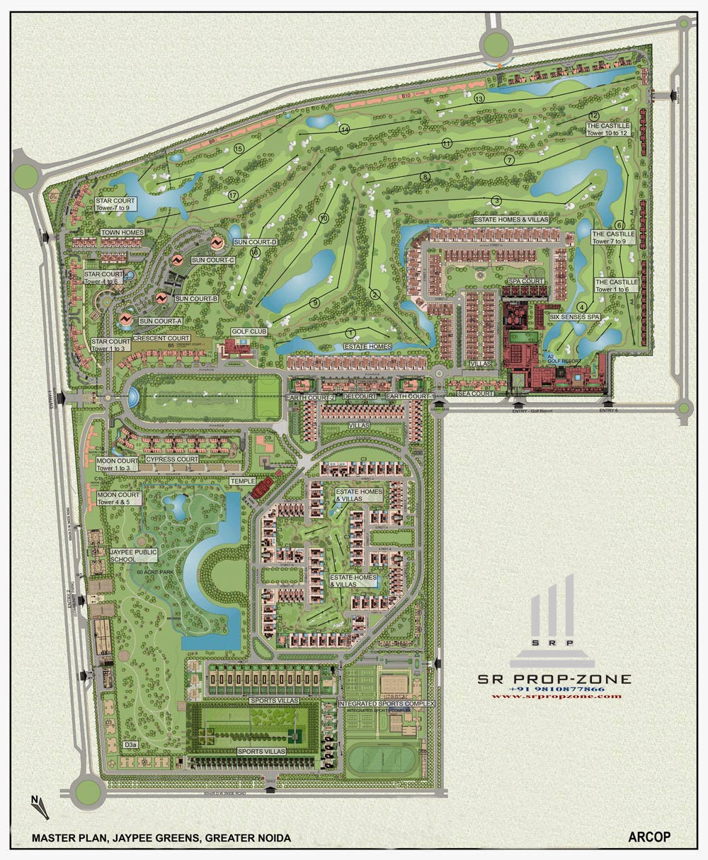 Jaypee greens flats in greater noida flats and apartment for Apartment master plans