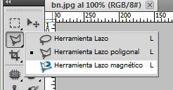 Photoshop: herramienta lazo