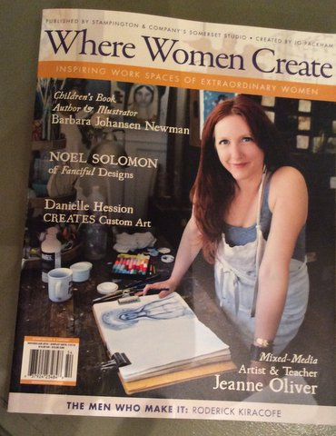 My studio featured in Where Women Create!