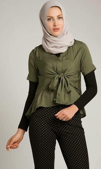 Model Baju Atasan Muslim Modis