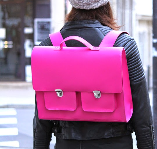 pink leather satchel biker jaket