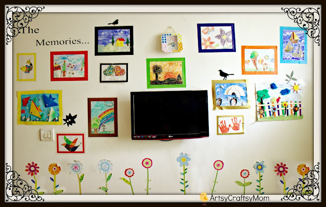 kids art display unit