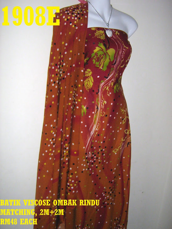 BVM 1908E: BATIK VISCOSE OMBAK RINDU MATCHING, EXCLUSIVE DESIGN, 2M+2M