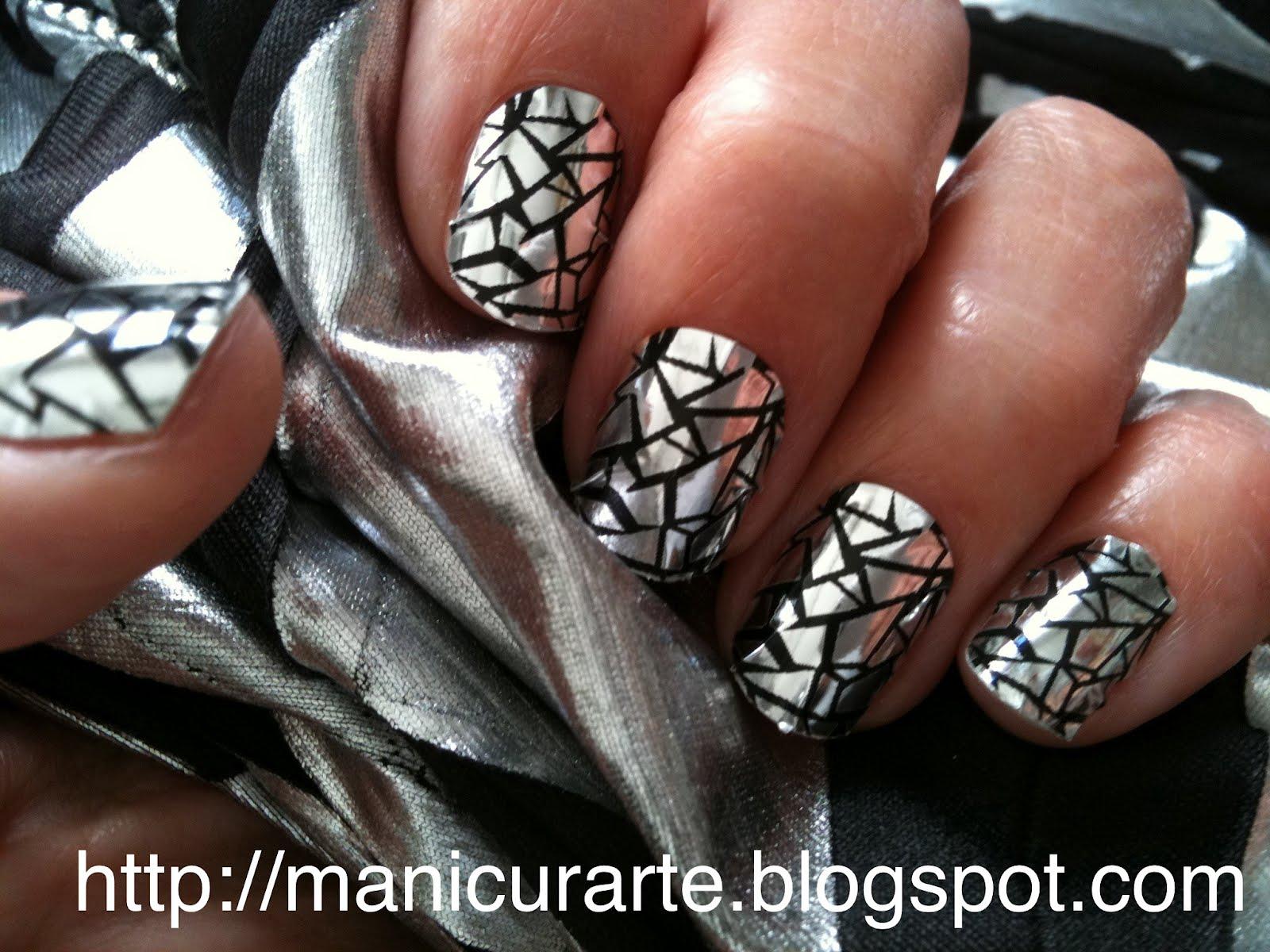 MANICURARTE*: Metallic foils nails / manicura metálica