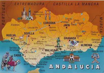 Andalucia Mapa de Fotos