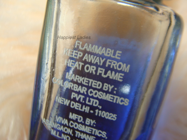 Colorbar Nail Polish Remover Flammable+polish remover
