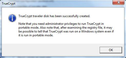 TrueCrypt - Traveler Disk Setup
