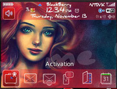 1 1111211046410 L Red Mermaid skin themes for blackberry 8520 os5.0