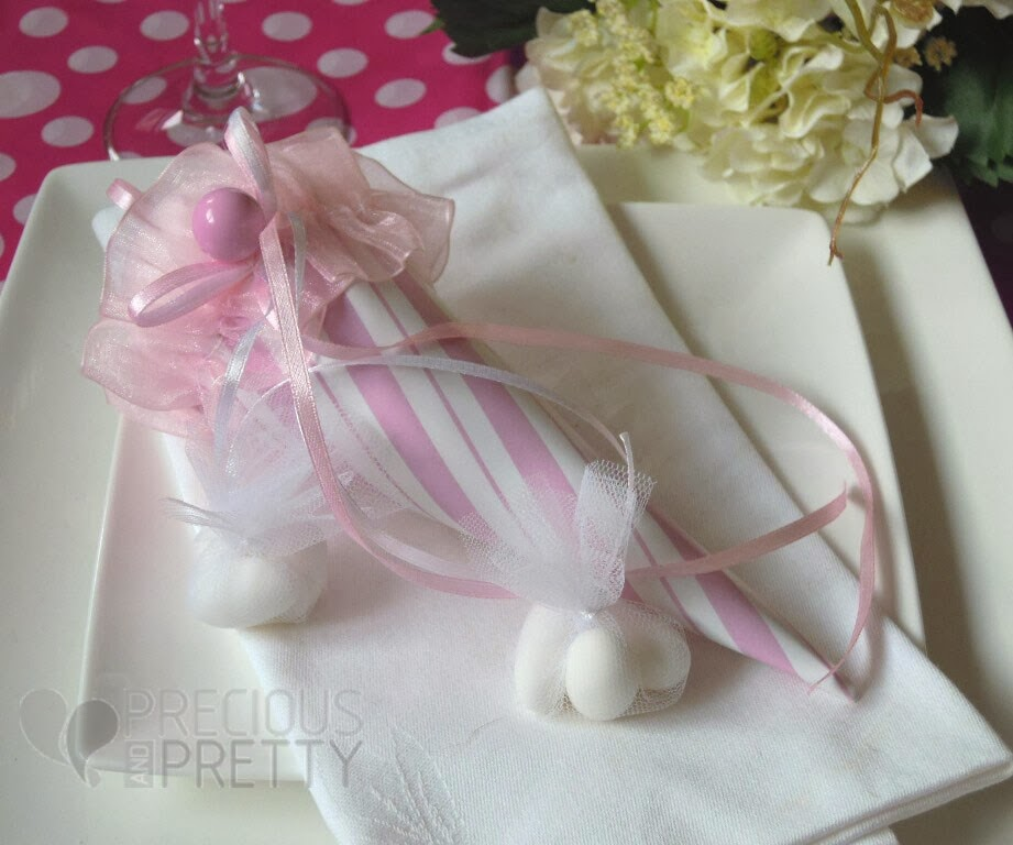 ice cream favors for girl's christening
