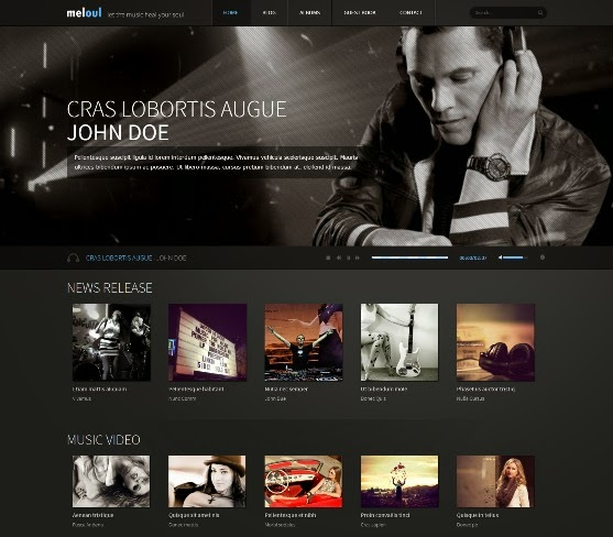Meloul Music Responsive Joomla Template