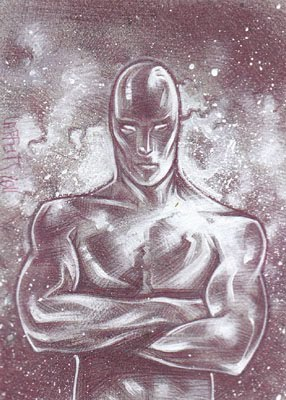 Silver Surfer(Pencil study) ACEO Sketch Card by Jeff Lafferty