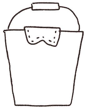 バケツのイラスト(掃除)線画