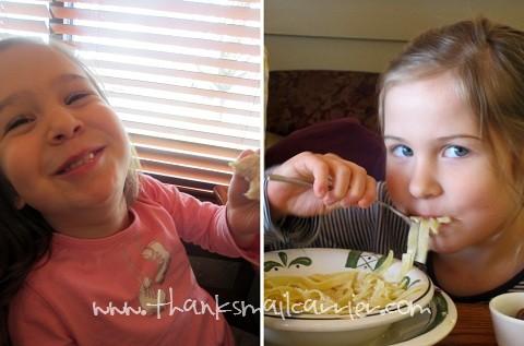 Olive Garden kids meals