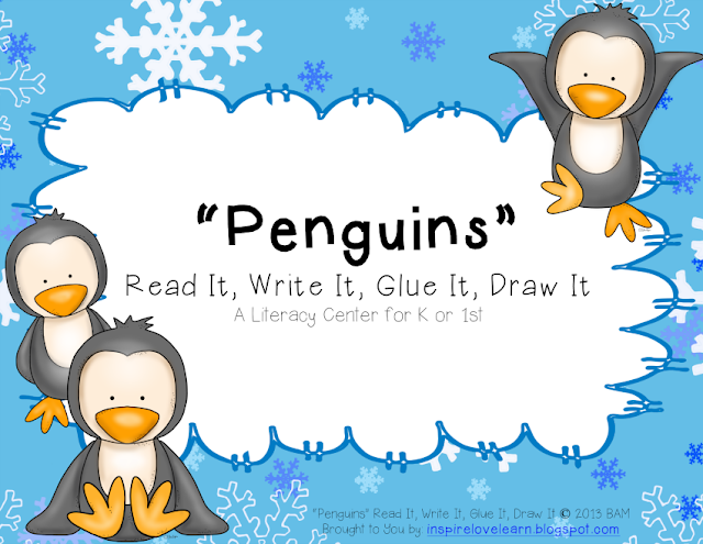 http://www.teacherspayteachers.com/Product/Penguins-Read-It-Write-It-Glue-It-Draw-It-1033458