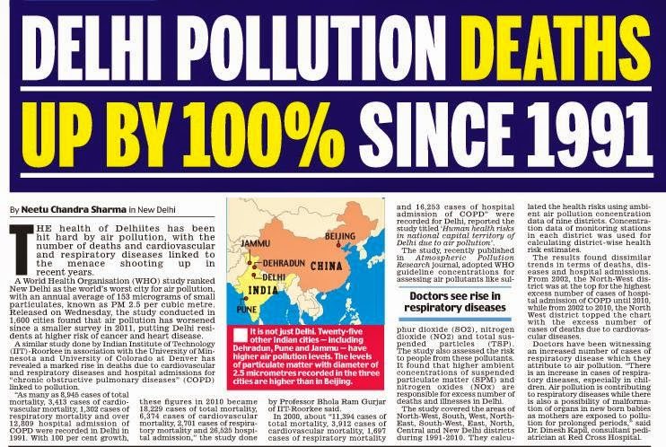 articles on diwali pollution
