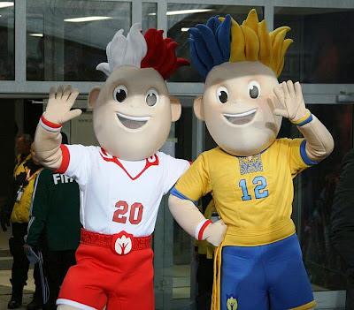 maskot Euro 2012 Polandia Ukraina