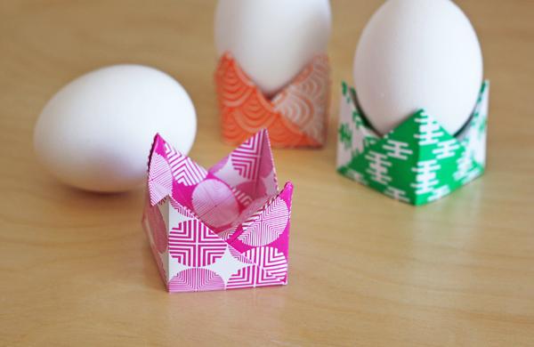 Как из бумаги сделать подставку для яиц