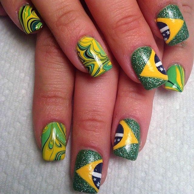 brazil nail art