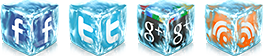 3D Social Sharing Icons For Blogger 2013