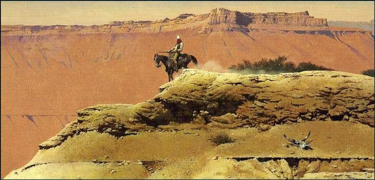 Western Painting in Grand Canyon by Robert McGinnis