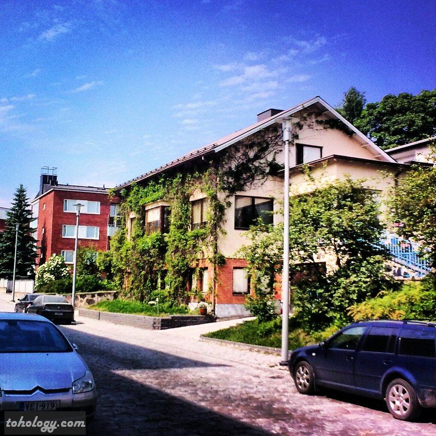 Street near PerheHotelli in Savonlinna