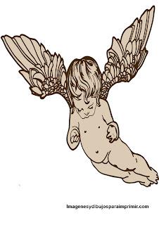Angel con hermosas alas