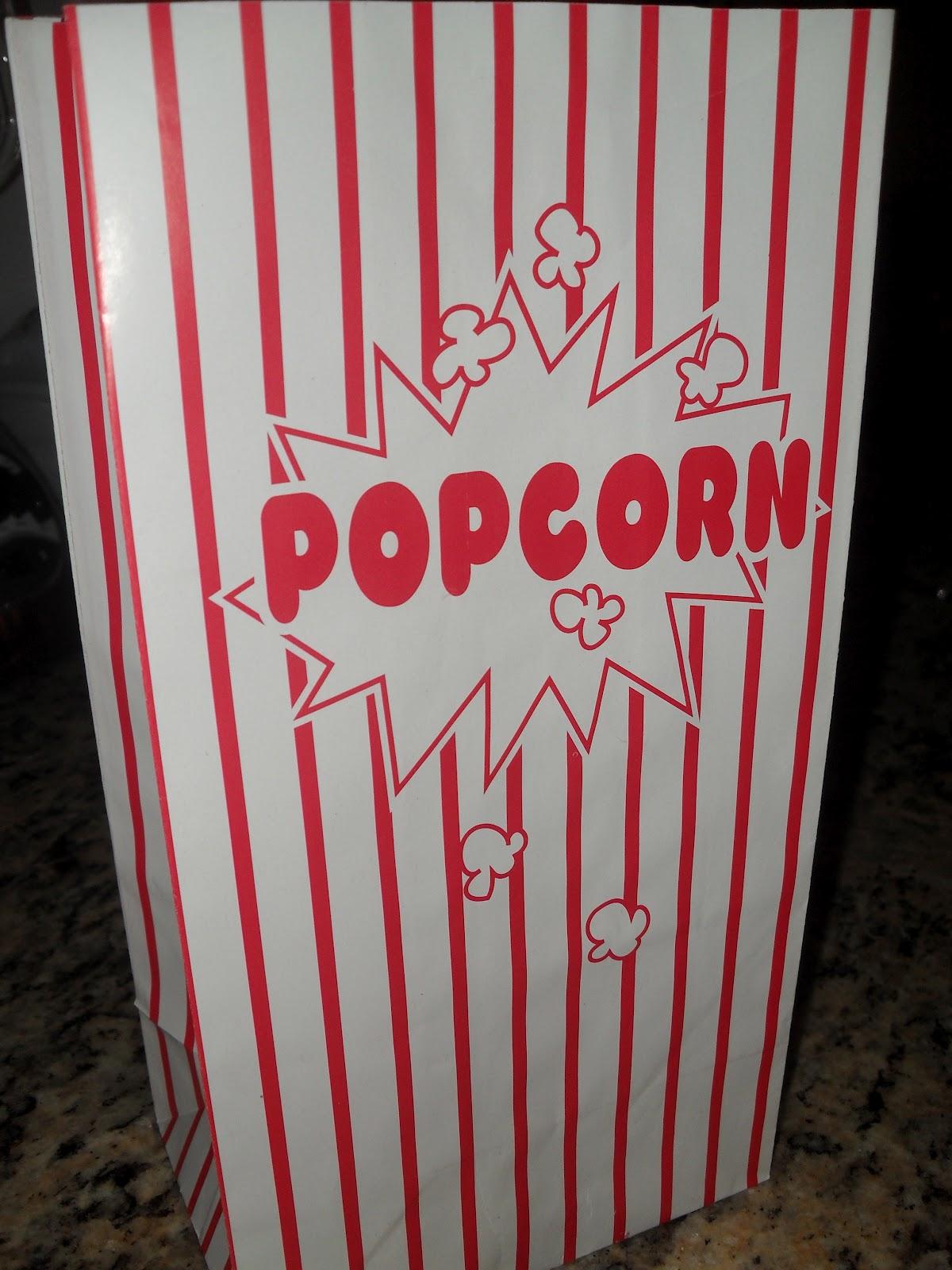 Popcorn Bag Printable Bag of popcorn for the