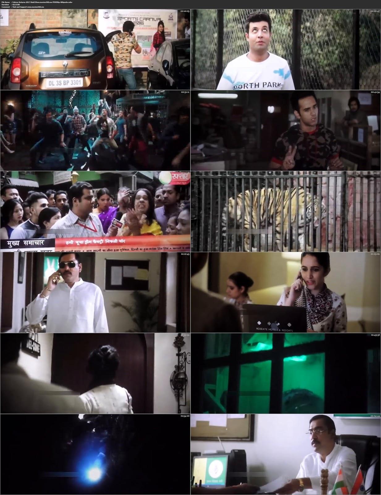 Fukrey Returns 2017 Bollywood 300MB pDVDRip 480p at freedomcopy.com