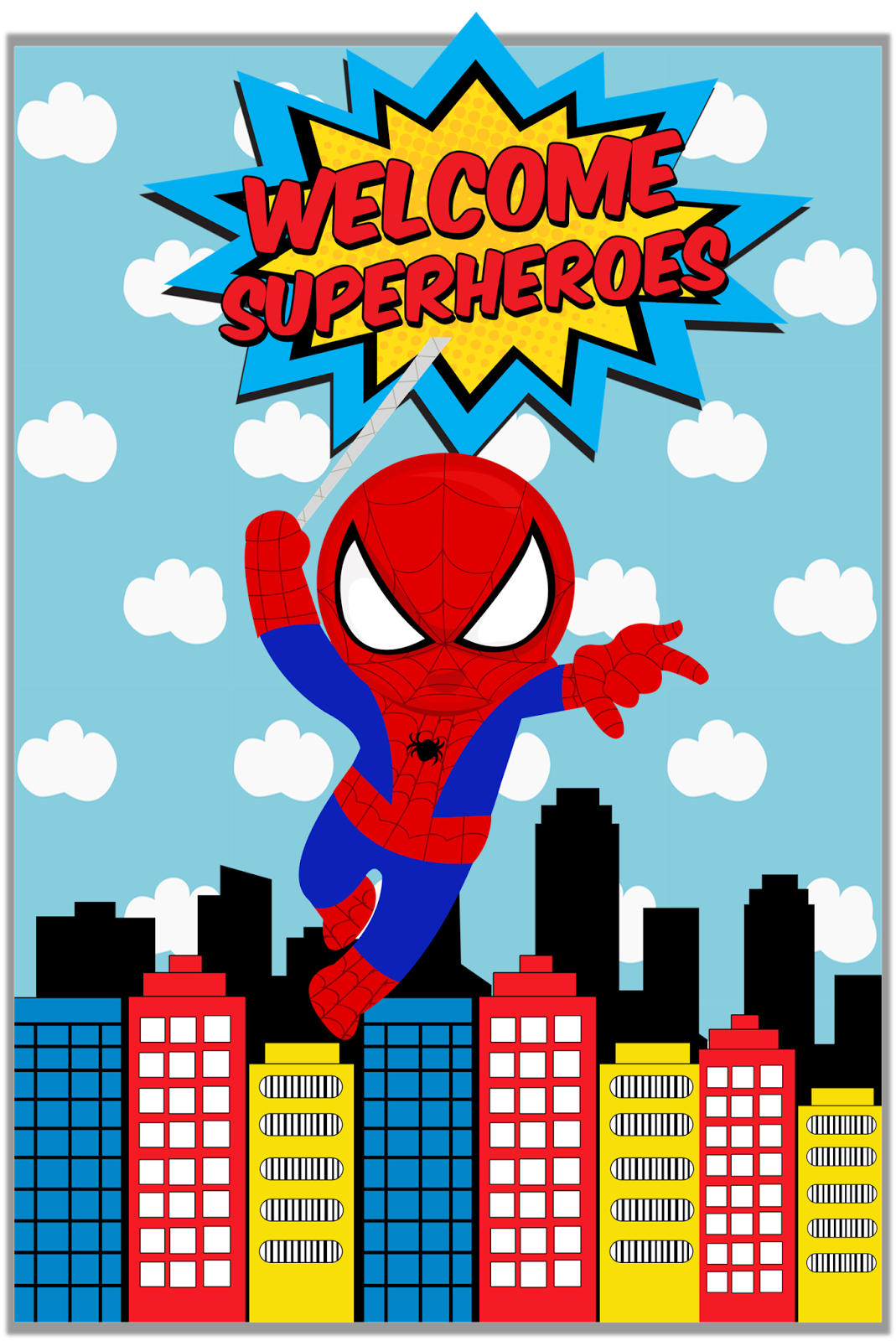 Spiderman Instant Printable Water Bottle Labels By