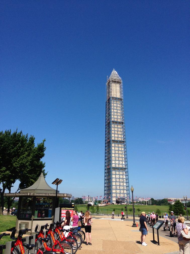 Washington Monument Summer DC Bike Share