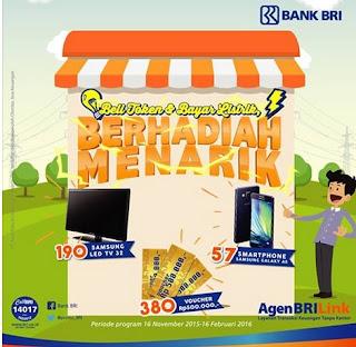 Undian Beli Token dan Bayar Listrik di Bank BRI Berhadiah Smartphone, TV dan Voucher Belanja