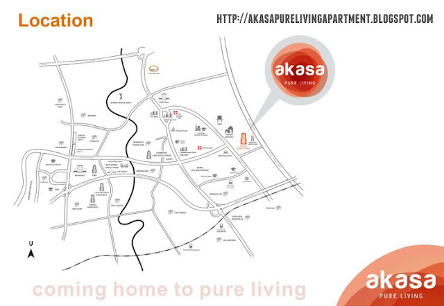 Peta Lokasi Akasa Pure Living