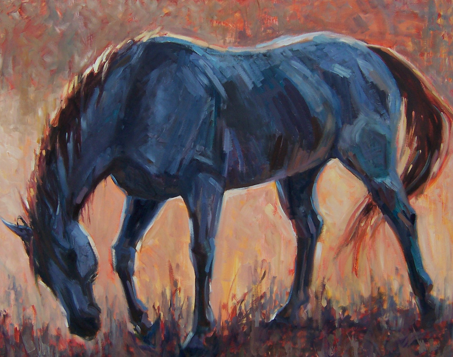 Mustang horse painting - photo#5