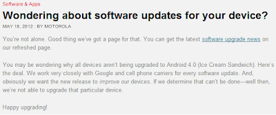 Motorola entrega Comunicado ante la polémica.