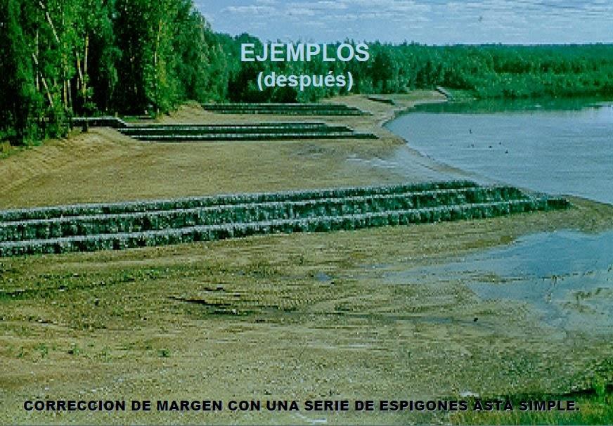 Diseño de espigones gavion rio