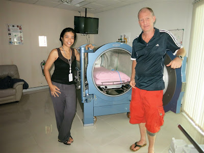 Hyperbaric chamber at Bangkok Samui Hospital in Chaweng