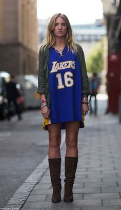 basketball jersey street style