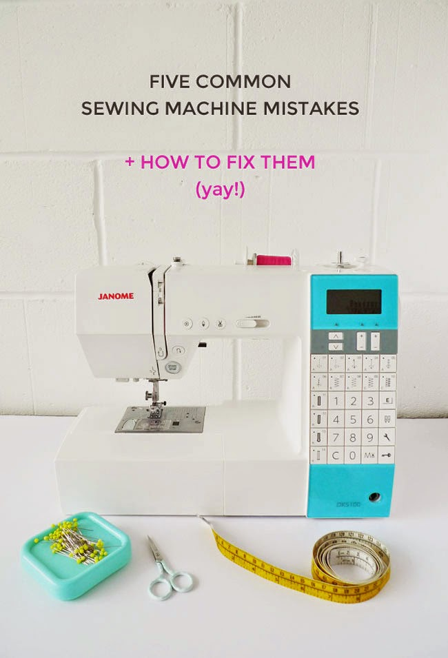 Common sewing machine mistakes + how to fix them