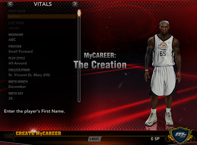NBA 2K13 MyCareer Create A Real NBA Player