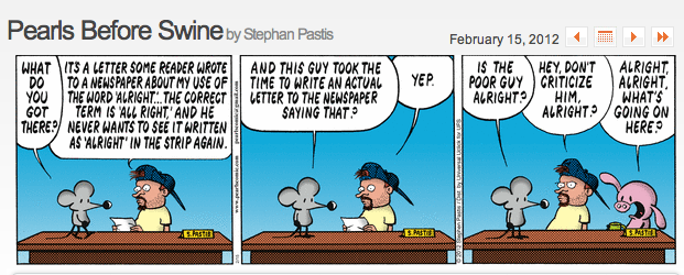 Pearls Before Swine: Alright