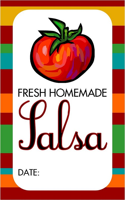 ... : {recipe & free printable} Canning Homemade Salsa & Free Printable