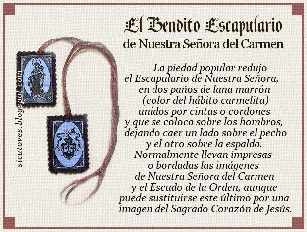 El Bendito Escapulario del Carmen
