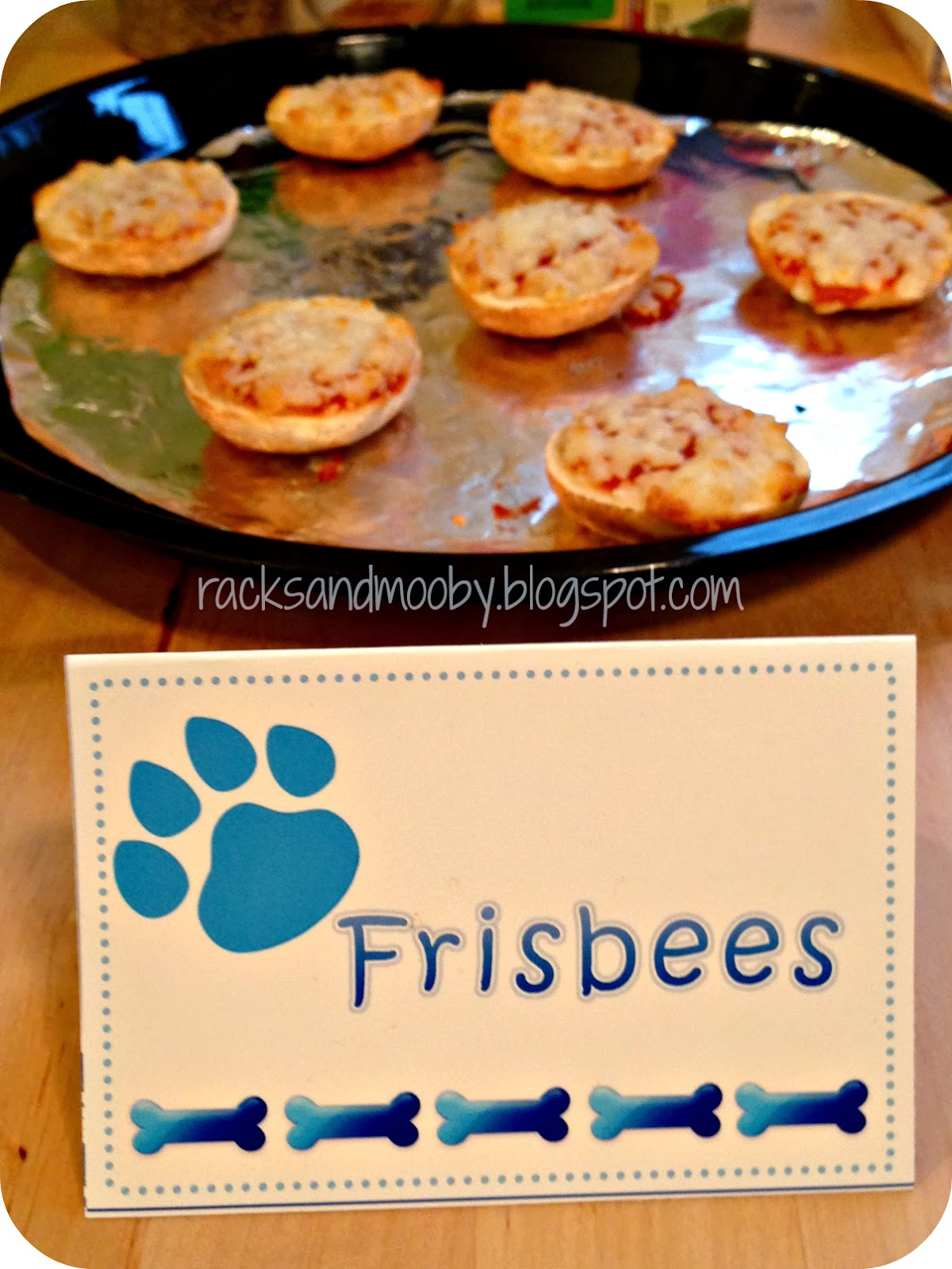 Puppy Party Frisbees Pizza Bites