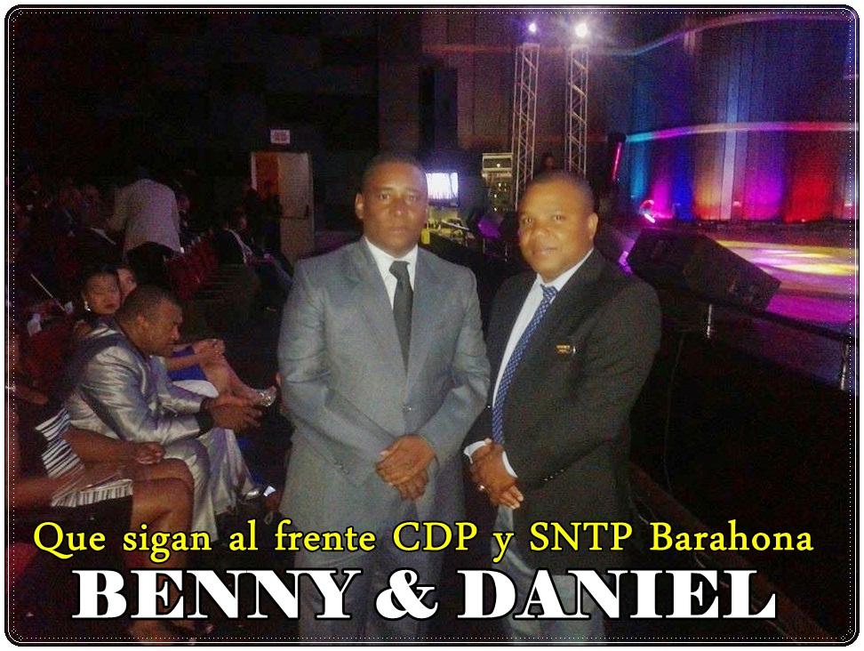 PERIODISTAS BENNY RODRIGUEZ Y DANIEL URBAEZ, SECRETARIOS GENERALES CDP Y SNTP BARAHONA