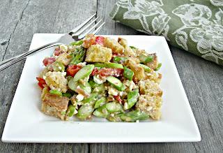 Bread and Asparagus Salad